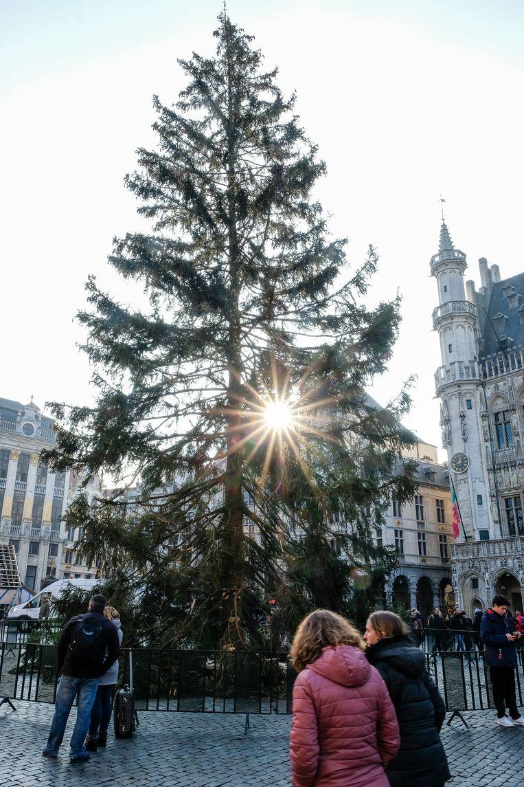 Kerstboom op Brusselse Grote Markt.