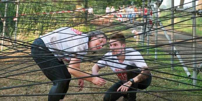 De hindernis 'Spiderweb' bij de Buffelrun van vorig jaar.
