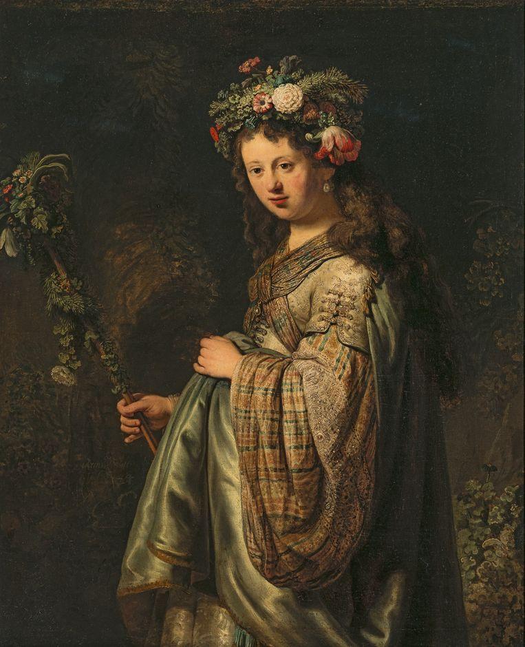 'Flora', in 1634 geschilderd door Rembrandt  Beeld © State Hermitage Museum, St Petersburg