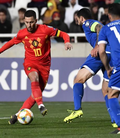 Hazard schittert tegen Cyprus in honderdste interland voor België