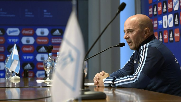 Jorge Sampaoli, bondscoach van Argentinië.