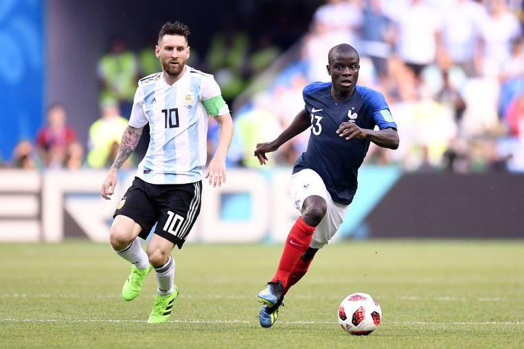 Kanté is Messi te snel af.