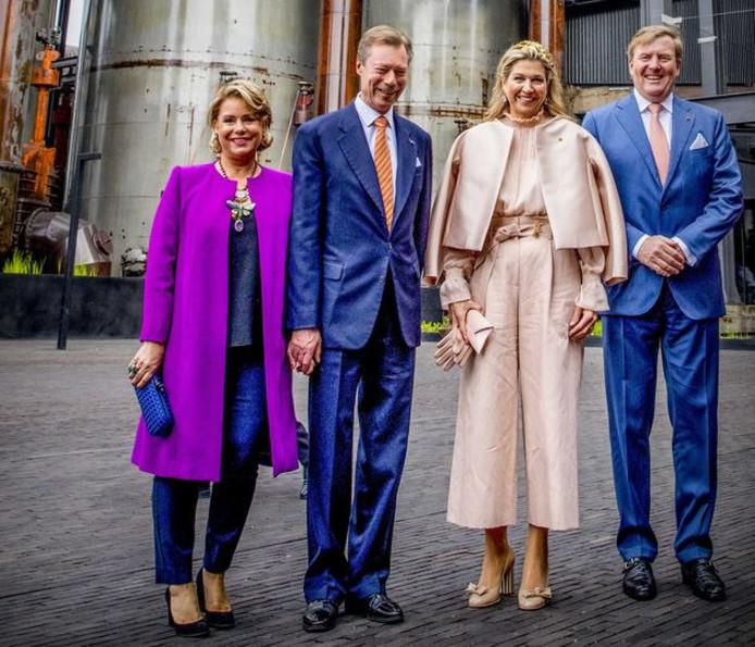 Máxima droeg dezelfde outfit naar het staatsbezoek in Luxemburg. Ze kreeg erg veel kritiek oer zich heen.