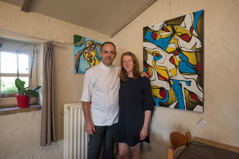 Peter Debruyne en Rosalyn Dewilde van restaurant De Boshoeve.