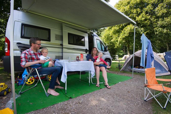 Campinggasten in Nederland.