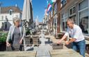 Overal hebben horeca-ondernemers met de rolmaat in de hand de tafels optimaal neergezet.