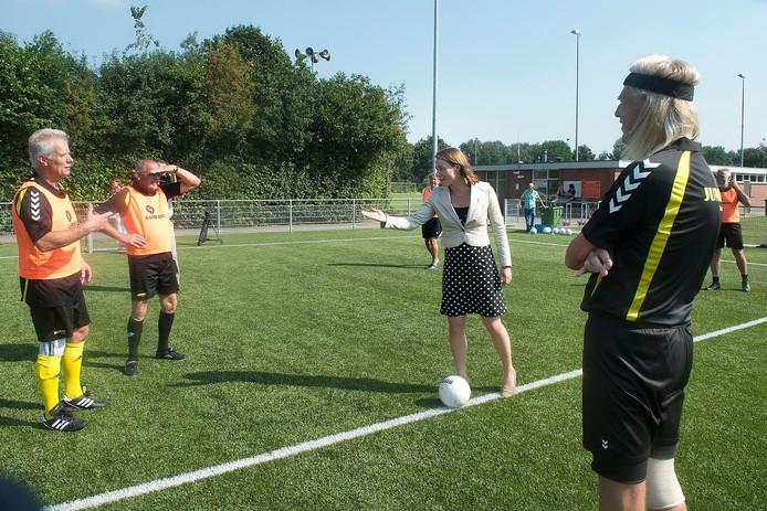Hanke Bruins Slot bij het Walking Football bij Voorwaarts.