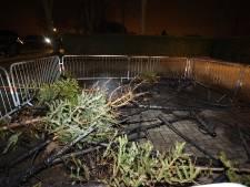 Opnieuw brand in Kerkdriel, ditmaal bij inzamelpunt voor kerstbomen