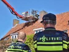 Brand in dak van woning in Oisterwijk