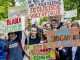 Protest bij het Binnenhof rond klimaatakkoord