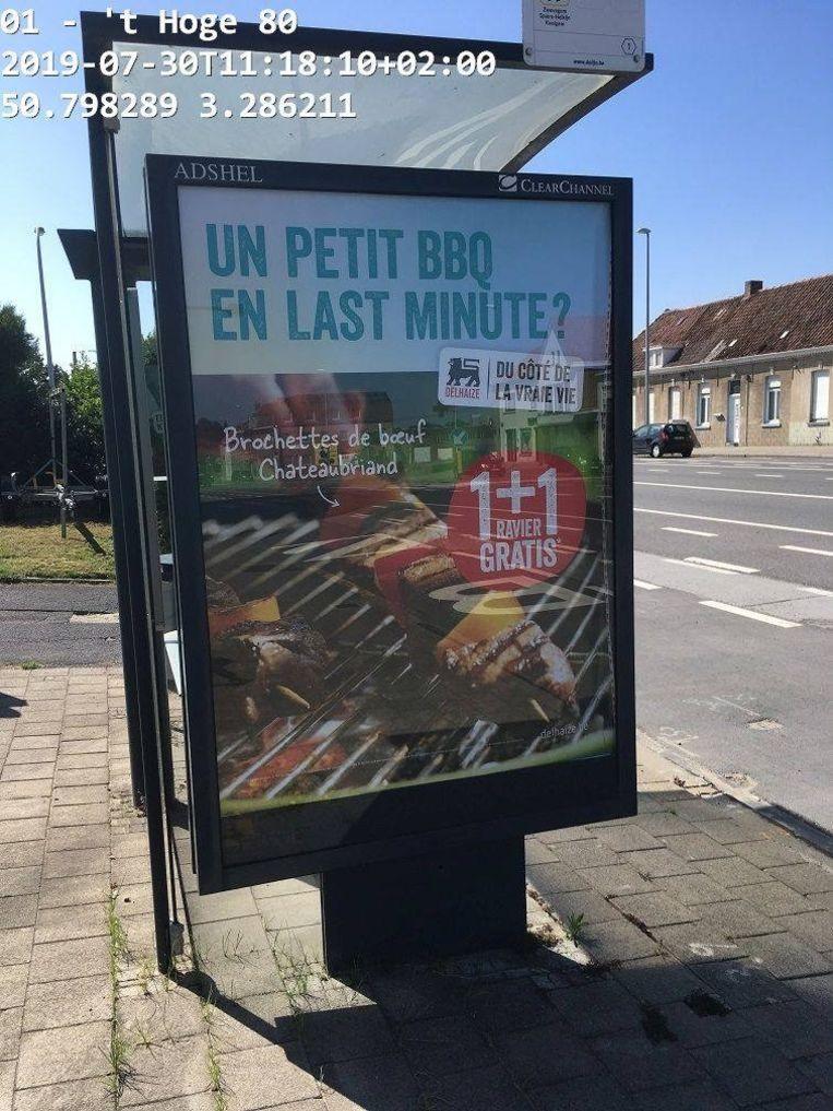 De reclame wordt meteen weggenomen