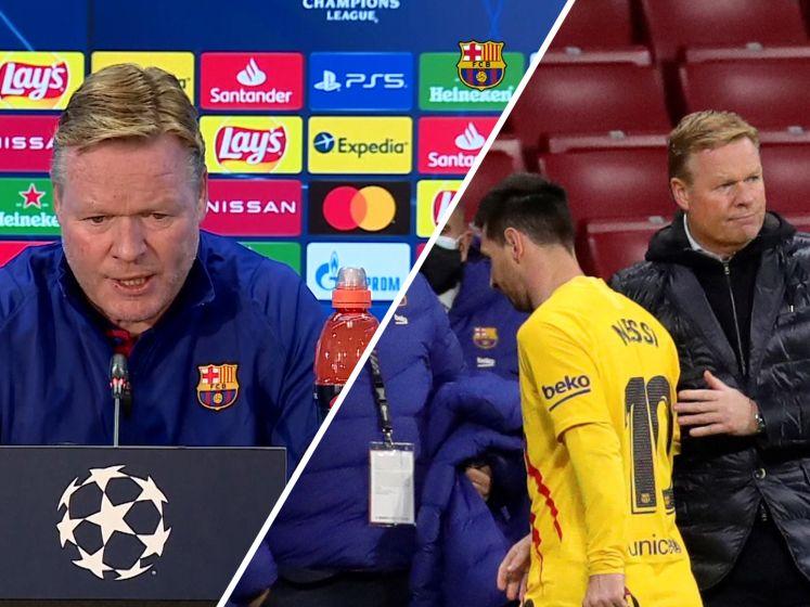 Koeman: 'Messi en de Jong hebben rust nodig'