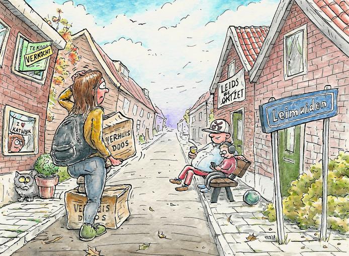 Ter illustratie: ook in Kaag en Braassem speelt de discussie over het verlenen van voorrang aan mensen uit het eigen dorp. In Leimuiden klaagt men over het feit dat dit niet gebeurt. Omdat Woningnet Holland Rijnland de hele regio bestrijkt, vestigen zich vaker Katwijkers en Leidenaren in Leimuiden.