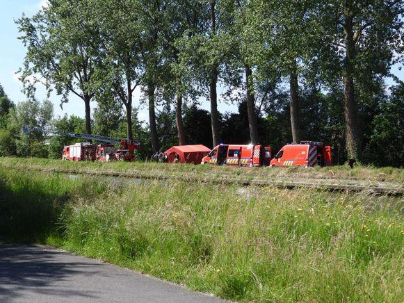 Politie en brandweer snelden ter plaatse, maar voor het slachtoffer kon geen hulp meer baten.