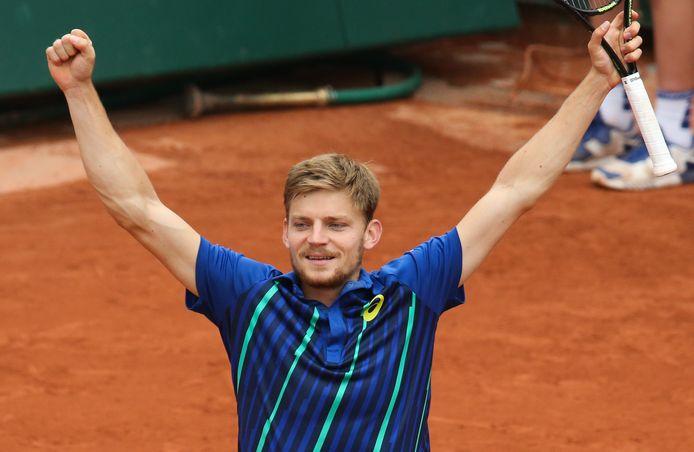 C'est à Roland-Garros qu'il s'est révélé aux yeux du grand public, en 2012, et c'est aussi à Roland-Garros, en 2016, que David Goffin s'est qualifié pour le premier quart de finale majeur de sa carrière.