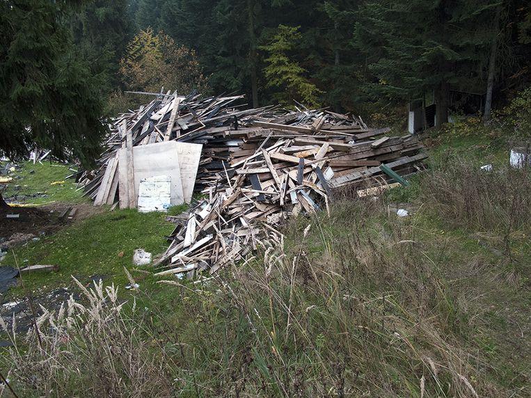 De plek van de afgebroken Solahütte, Polen, 2011. Beeld Annette Behrens