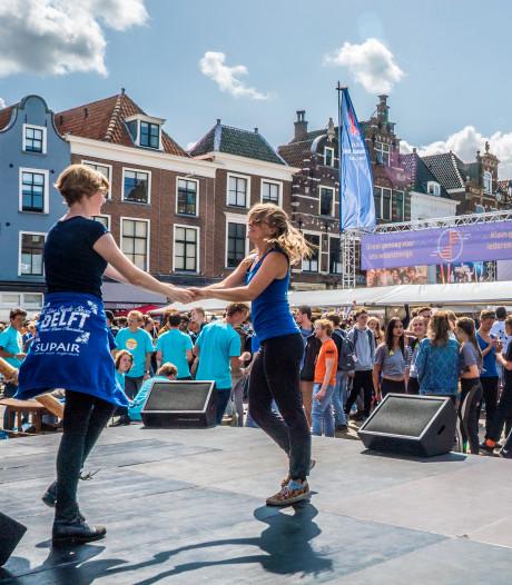 Eerstejaars proeven aan het studentenleven tijdens OWee- week van TU Delft