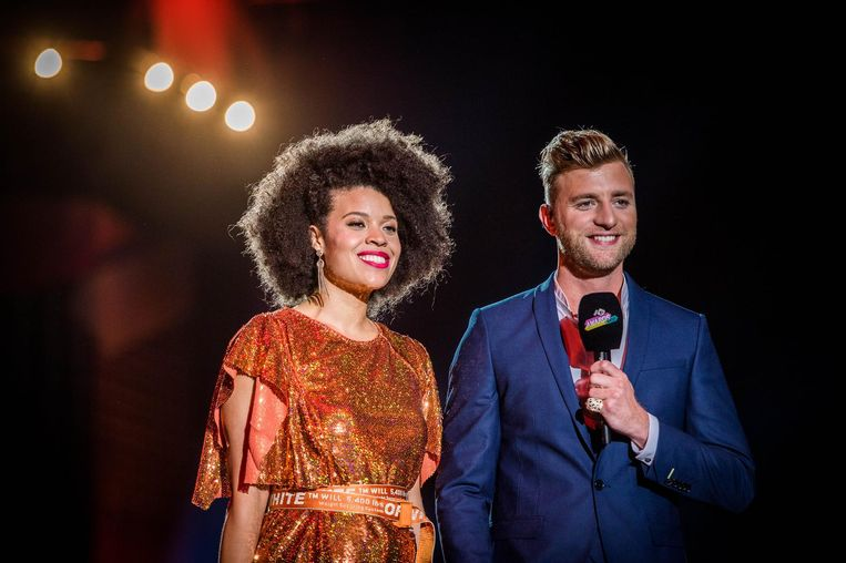 Angelique Houtveen en Jan Versteegh tijdens de avond Beeld anp