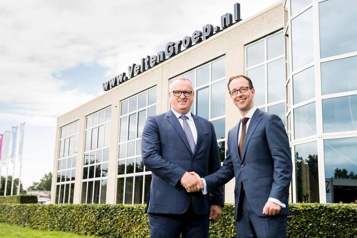 Links Albert Velten, rechts Henri Veldsink. Foto: VCN