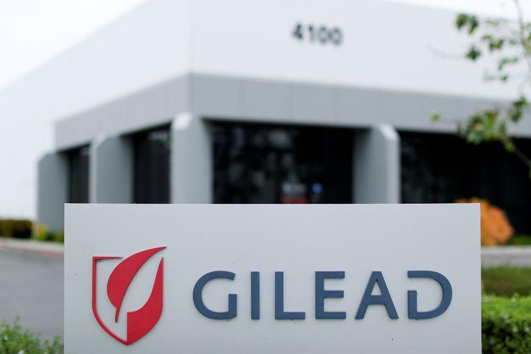 Het kantoor van Gilead in Californië. Het bedrijf kan remdesivir in de VS gaan verkopen voor 3200 dollar per kuur.