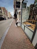 Kasper Dolberg in de Utrechtsestraat in Amsterdam, zaterdagmiddag.
