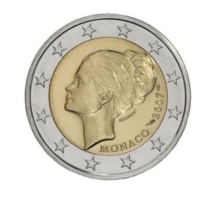 Une pièce de deux euros à l'effigie de Grace Kelly