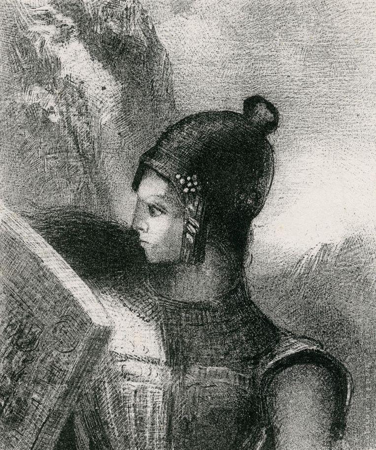 'Brünnhilde', 1885. Beeld Odilon Redon, Kröller-Müller Museum