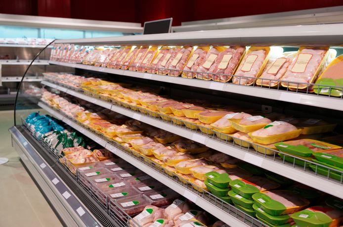 Kip in de supermarkt