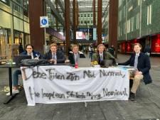 Gemeente stopt 'studentenprotest' op 18 Septemberplein: 'Vergeet ons niet in coronatijd'