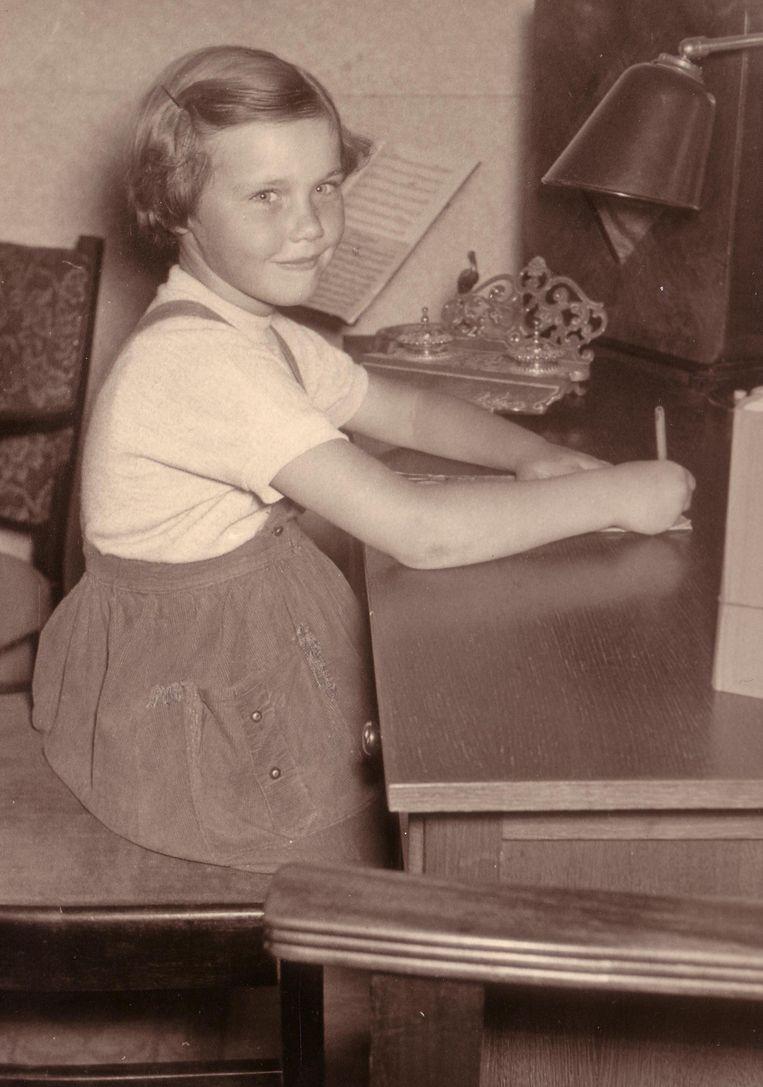 Margot de Jong in haar jeugd Beeld Dana Ploeger