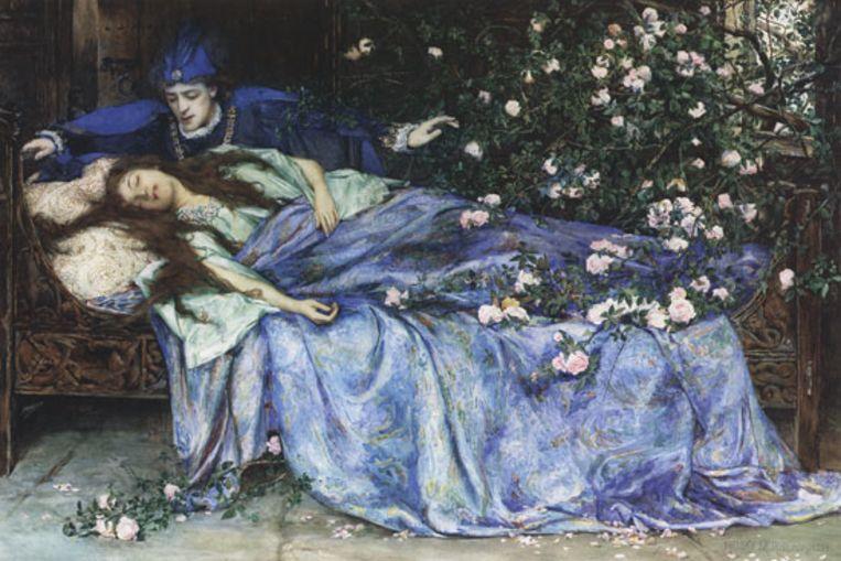 De schone slaapster van Henry Meynell Rheam Beeld Henry Meynell Rheam