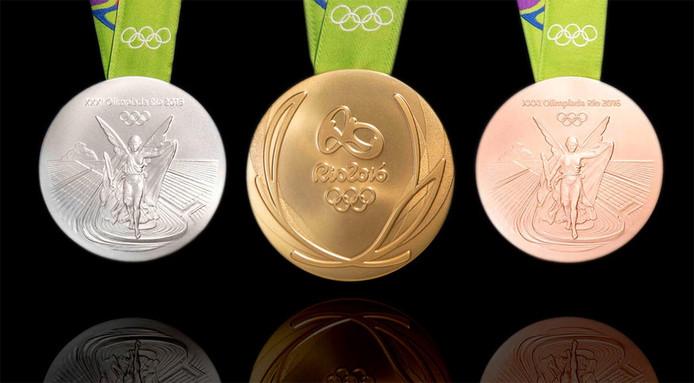 De medailles van de Olympische Spelen in 2016 in Rio.
