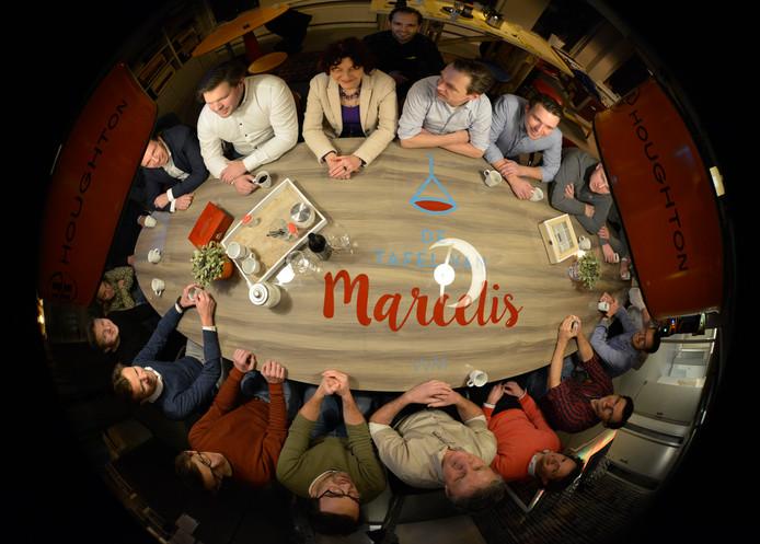 De 'Tafel van Marcelis' heeft een plek gekregen in de hal van de stichting AssortiMens in Oldenzaal.