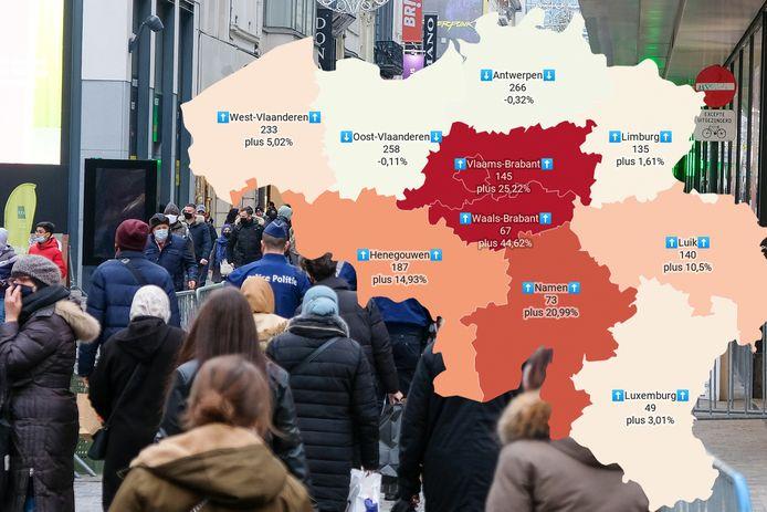 In Brussel en Brabant neemt het aantal nieuwe besmettingen stevig toe. Maar dat hoeft volgens biostatisticus Geert Molenberghs niet per se lang te duren.