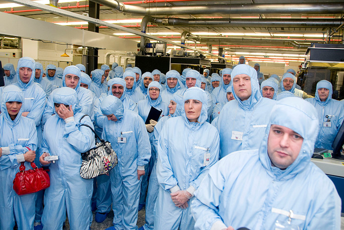 Werknemers van NXP. Archieffoto