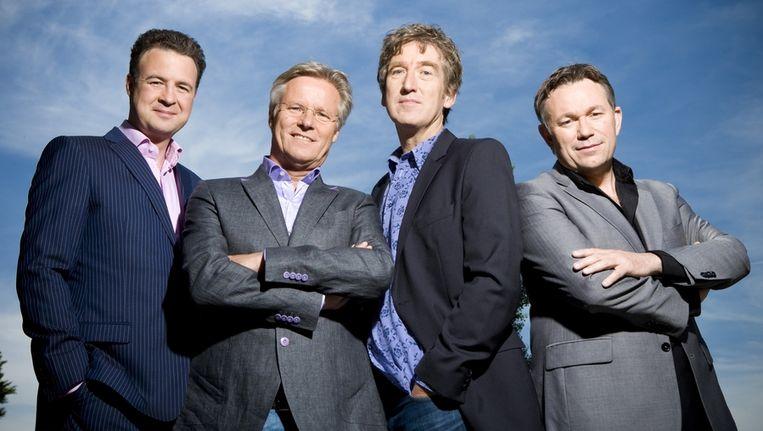 Vier van de presentatoren van KRO Brandpunt. Beeld KRO