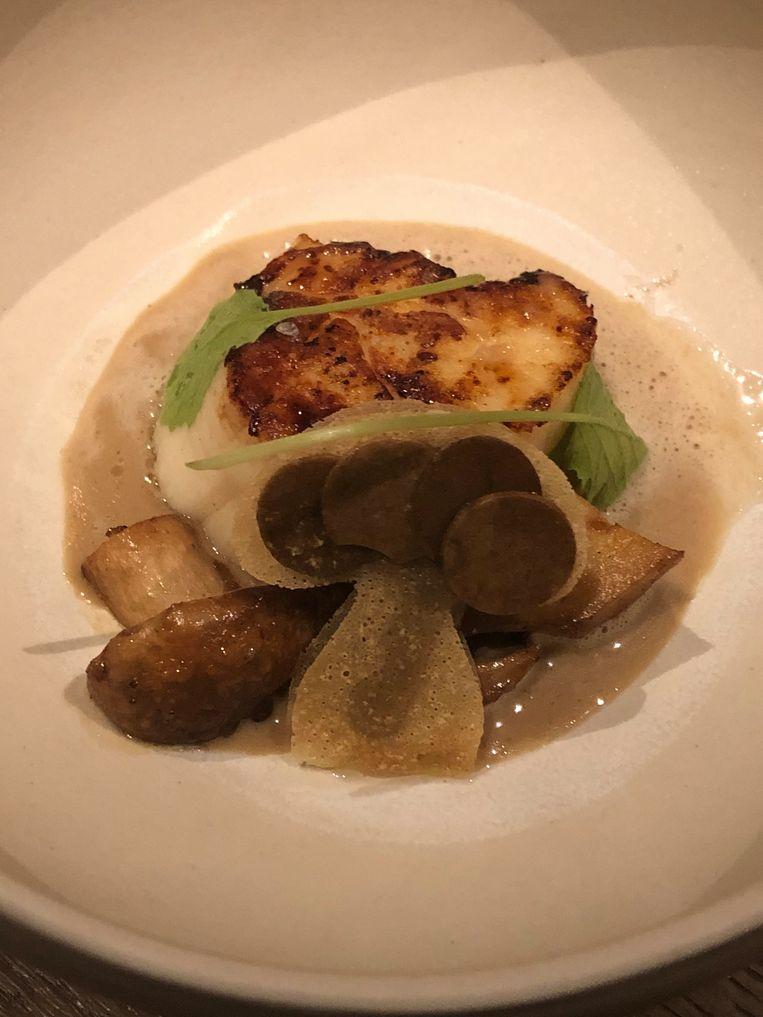 Restaurant Hert: Coquille met truffel