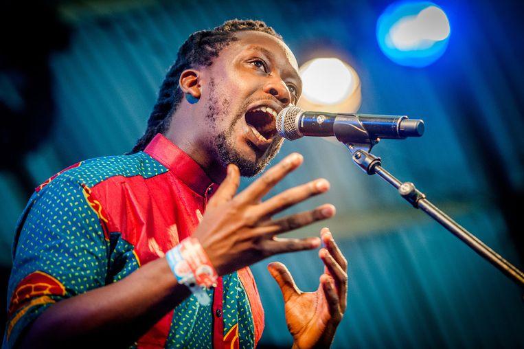 Amsterdamse rapper Akwasi worstelde niet met de aanvraag: hij komt. Beeld anp