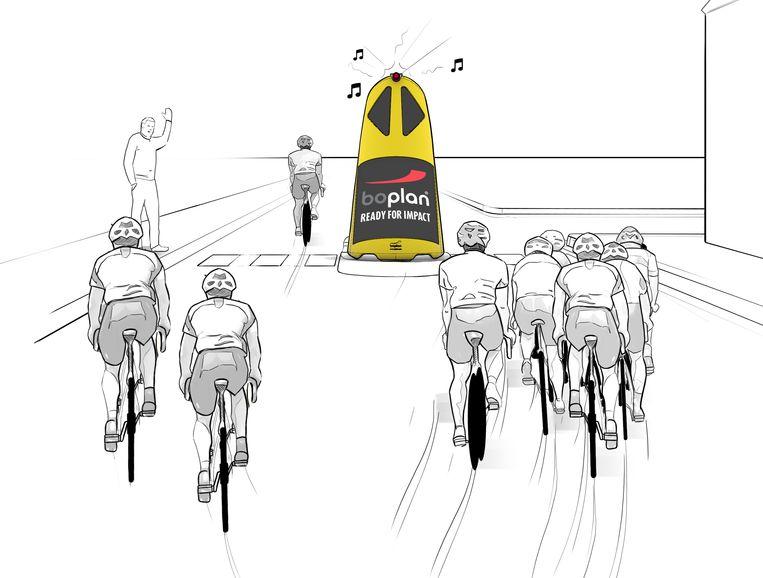 Deze 'safety totems' moeten valpartijen voorkomen op E3 Harelbeke.
