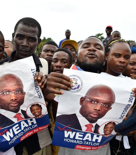 Oud-topvoetballer Weah nadert presidentschap Liberia