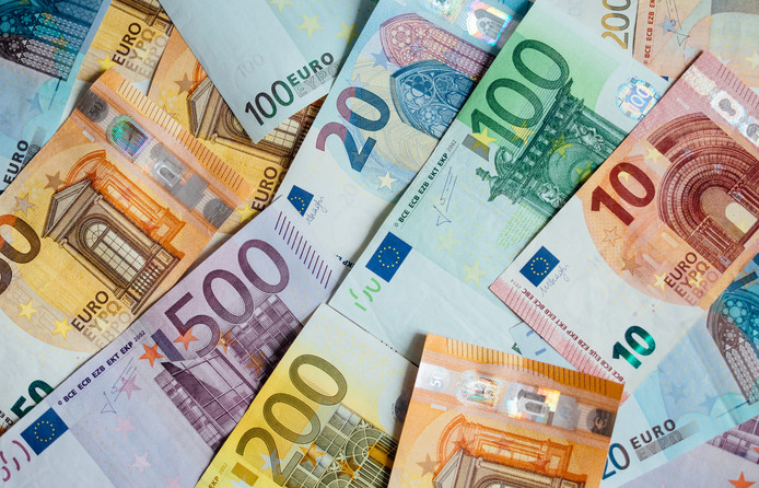 Euro Geld. euro contant geld achtergrond. Eurogeldbankbiljetten