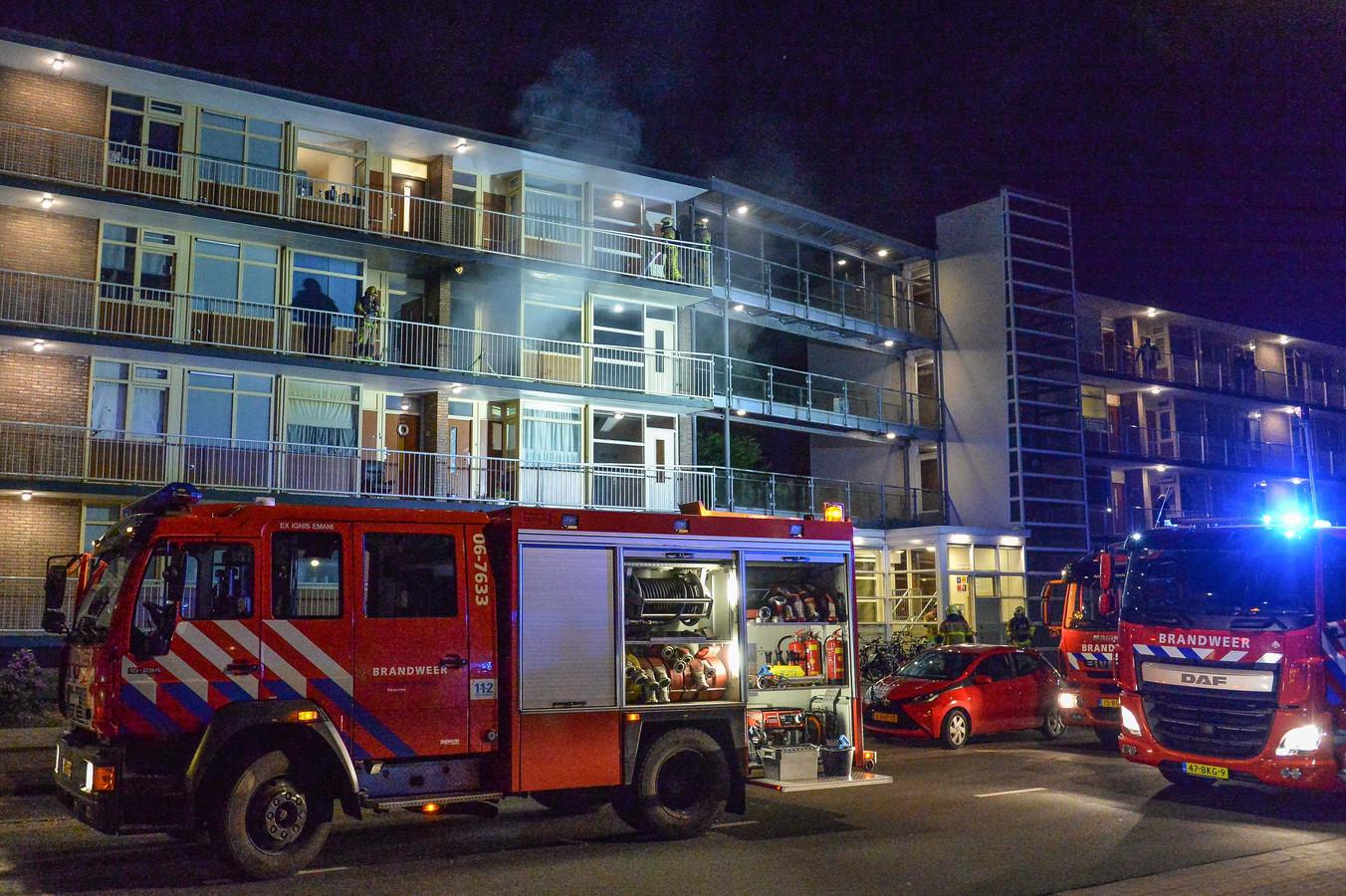 Er woedde vannacht een grote brand in Apeldoorn.