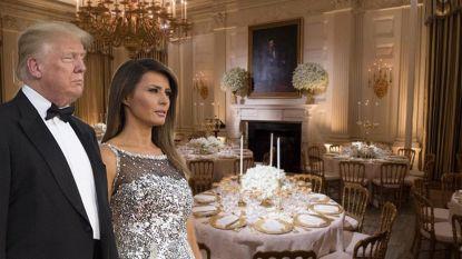 Achter de schermen van het staatsdiner van het jaar waarbij Trumps de show stalen: werkelijk alle details klopten