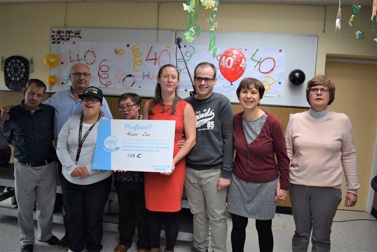 Residenten trots met hun beloning