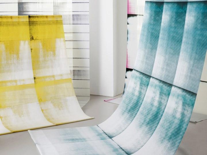 Gordijnen van gerecycleerd polyester.
