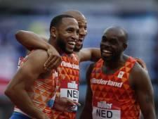 Sprinters verbeteren in Londen Nederlands record op 4x100 meter