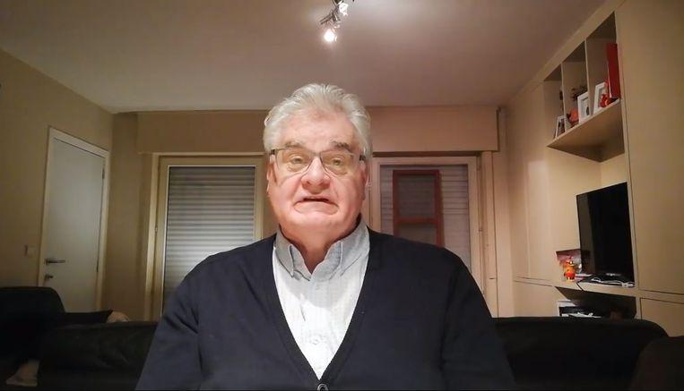 Burgemeester Ivan Delaere spreekt de burgers van Pittem toe