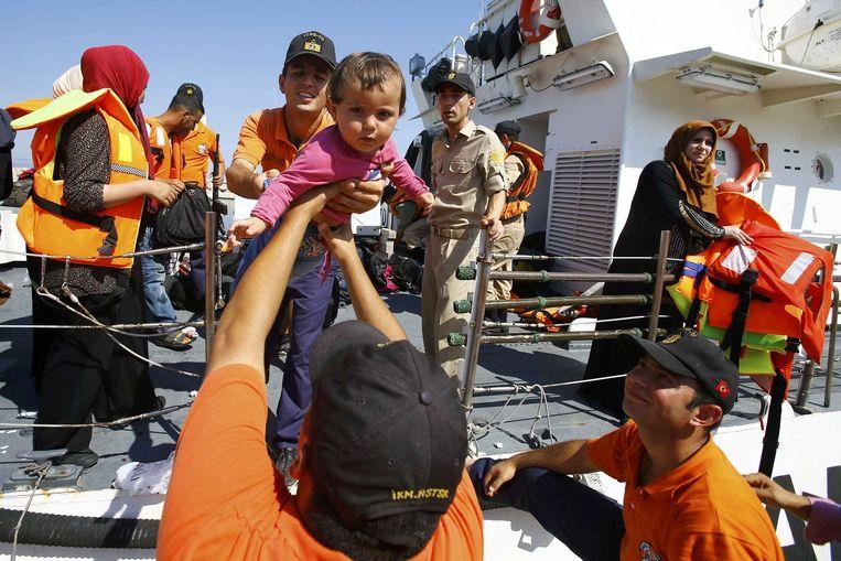 Syrische migranten bij Izmir, Turkije. Beeld reuters
