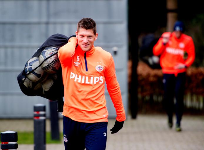 Stijn Schaars (hier op archiefbeeld uit 2015) is terug bij PSV.