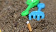 Peukenblokken om sigarettenpeuken  te verminderen op het strand